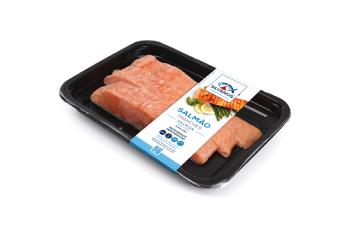 Tranches de salmão fresco